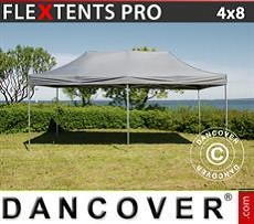 Racing tents Pop up gazebo FleXtents PRO 4x8 m Grey