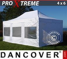 Racing tents Pop up gazebo FleXtents Xtreme 4x6 m White, incl. 8 sidewalls