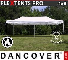Racing tents Pop up gazebo FleXtents PRO 4x8 m White, Flame retardant