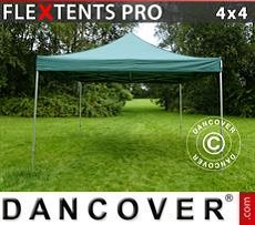 Racing tents Pop up gazebo FleXtents PRO 4x4 m Green