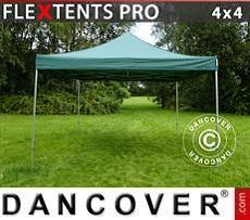 Racing tents Pop up gazebo FleXtents PRO 4x4 m Green