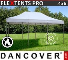 Racing tents Pop up gazebo FleXtents PRO 4x6 m White, Flame retardant