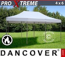 Racing tents Pop up gazebo FleXtents Xtreme 4x6 m White, Flame retardant