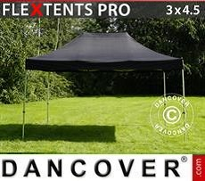 Racing tents Pop up gazebo FleXtents PRO 3x4.5 m Black