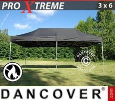 Racing tents Pop up gazebo FleXtents Xtreme 3x6 m Black, Flame retardant