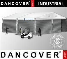 Storage buildings Industrial Storage Hall 10x10x4,52 m w/sliding gate, PVC/Metal, White