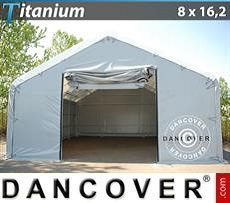 Storage shelter Titanium 8x16.2x3x5 m, White / Grey