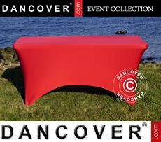 Stretch table cover, 244x75x74 cm, Red