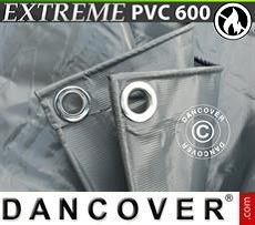 Tarpaulin Tarpaulin 4x6 m PVC 600 g/m² Grey, Flame retardant
