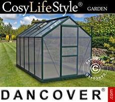 Greenhouse Polycarbonate 5.92 m², 1.9x3.12x2.01 m, Green