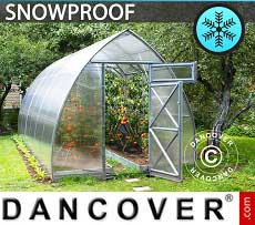 Greenhouse Polycarbonate, Arrow 15.6 m², 2.6x6 m, Silver
