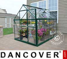 Greenhouse polycarbonate Harmony 4.5 m², 1.85x2.47x2.08 m, Green