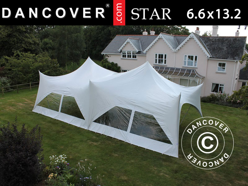 Pole tent 'Star' – unser neues, elegantes und organisches Partyzelt