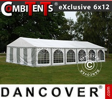 Partyzelt, Exclusive CombiTents™ 6x12m 4-in-1, Grau/Weiß