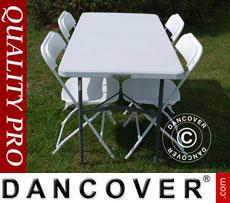 Tische und Stühle - Party-Paket 1 Klapptisch (150 cm) + 4 Klappstühle