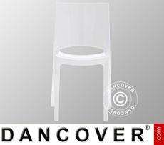 Stuhl, Sunshine, Weiß glänzend, 6 Stück