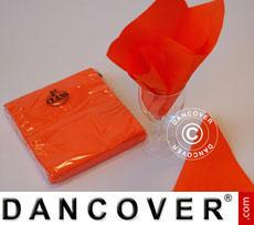 Servietten, 3 Schichten 80 Stück, Orange