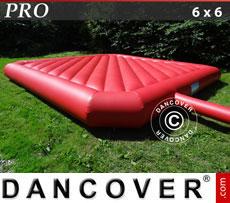Hüpfkissen 6x6m, Rot, Beständige Mietqualität
