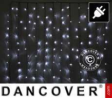 LED-Vorhang, 3x2m, Weiß