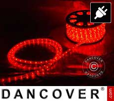 Lichtschlauch, 50m LED, Ø 1,2cm, Mehrfachfunktion, Rot