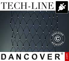 LED-Netz Tech-Line, 1,2x1,2m, warmes weiß