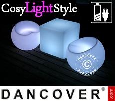 LED-Möbelset, 1 Tisch + 2 Stühle