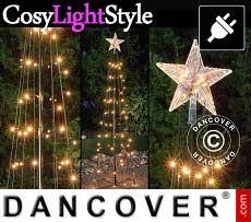 LED Lichterbaum mit Stern, 1,8m, Multifunktionsbaum, warmweiß