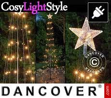 LED Lichterbaum mit Stern, 2,4m, Multifunktionsbaum, warmweiß
