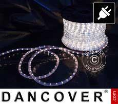 Lichtschlauch, 50m LED, Ø 1,2cm, Mehrfachfunktion, Kalt weiß