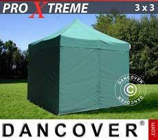 Faltzelt FleXtents Xtreme 3x3m Grün, mit 4 wänden