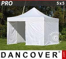 Faltzelt FleXtents PRO 5x5m Weiß, mit 4 wänden