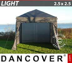 Faltzelt FleXtents Light 2,5x2,5m Grau, mit 4 wänden
