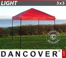 Faltzelt FleXtents Light 3x3m Rot