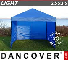 Faltzelt FleXtents Light 2,5x2,5m Blau, mit 4 wänden