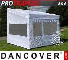 Faltzelt FleXtents PRO Trapezo 3x3m, mit 4 wänden