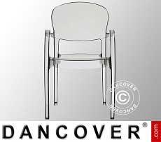 Stuhl mit Armlehnen, Joker, Durchsichtig, 6 Stück