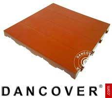 Kunststoffboden, Basic, Piastrella, Terracotta-Rot, 10,08 m²
