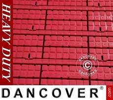 Fußbodenbelag, Heavy duty, rot 40m²
