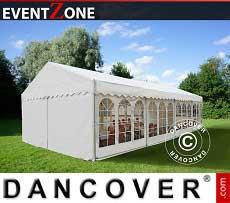 Partyzelt EventZone 6x12 m PVC, Weiß