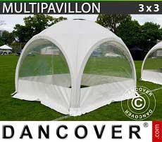 Partyzelt Multipavillon 3x3m, Weiß