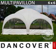 Partyzelt Multipavillon 6x6m, Weiß