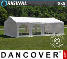 Partyzelt Original 5x8m PVC, Weiß