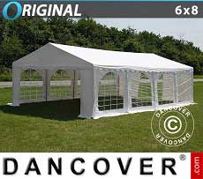 Partyzelt Original 6x8m PVC, Weiß