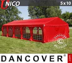 Partyzelt UNICO 5x10m, Rot