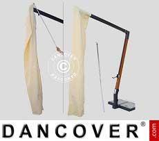 Sonnenschirm-Tuch mit Reißverschluss für Milano Braccio 3,5x3,5m, Ekrü
