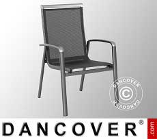 Stuhl mit Armlehnen, Forios, 63,5x69x99,5cm, 4 St., eisengrau