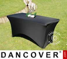Stretch Tischüberzug, 150x72x74cm, Schwarz