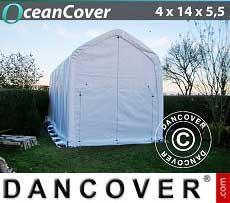 Bootszelt Oceancover 4x14x4,5x5,5m, Weiß