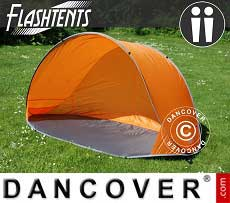 Strandzelt, FlashTents®, 2 Personen, Orange/Grau