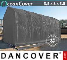 Bootszelt Oceancover 3,5x8x3x3,8m, Grau